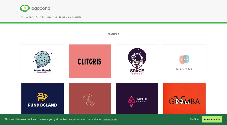 logo pond, logo, marques, inspiration, design, vectoriel